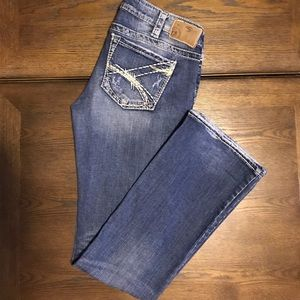 Silver distressed jeans. Size 30.